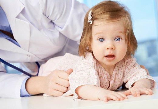 Обследование младенца