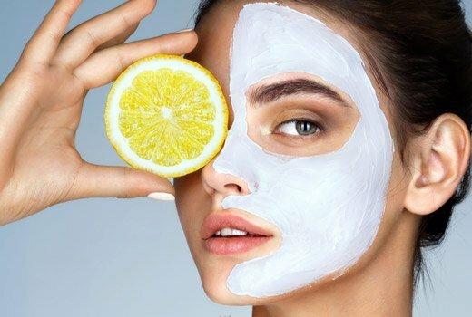 лимонная маска на лице